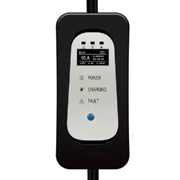 Mobiele Thuislader Type 2 Mennekes vanaf Stopcontact EU - 16A - Fase 1 display