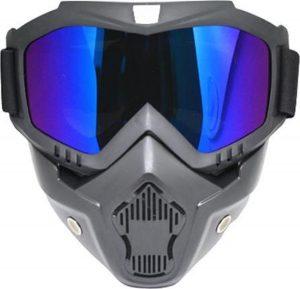 Skibril Dames Zwart : Skibril Heren Zwart gesloten masker met Parelmoer vizier