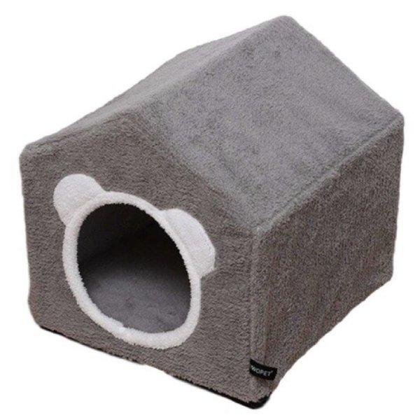 Kattenhuisje van stof - Grijs - Grodt