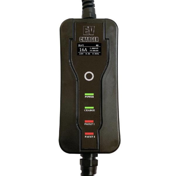 Mobiele Lader Type 1 vanaf stopcontact EU - 16A - Fase 1 - Pro EV Display