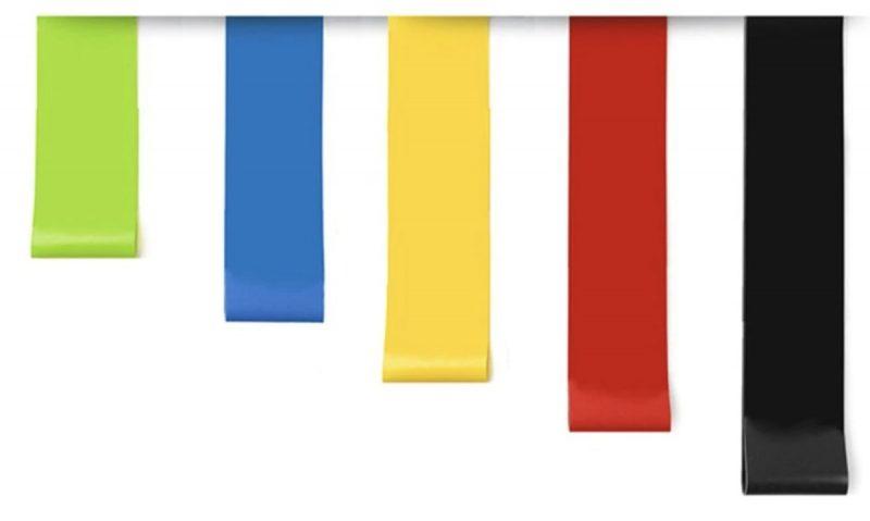 Weerstandsbanden Fitness Set van 5 kleuren