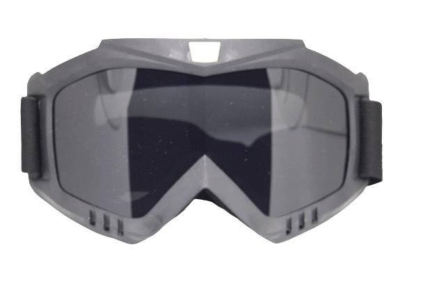 Skibril Dames Zwart / Skibril Heren Zwart gesloten masker met Zwart vizier bril